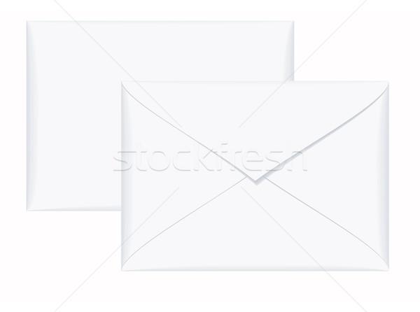 Messaggio due bianco carta busta comunicazione Foto d'archivio © Hipatia