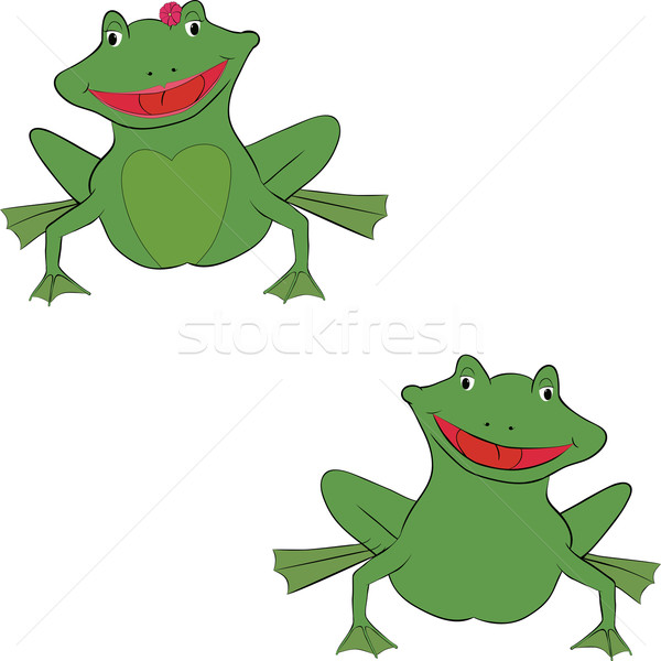 Stock photo: pair of frogs
