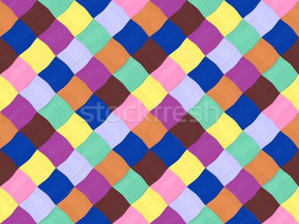 Filati pattern senza soluzione di continuità luminoso tessili colore Foto d'archivio © Hipatia