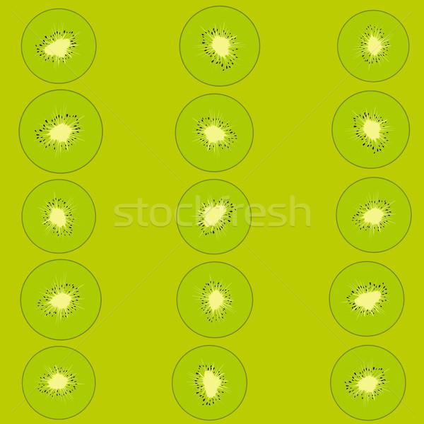 Kiwi pattern verde tre verticale linee Foto d'archivio © Hipatia