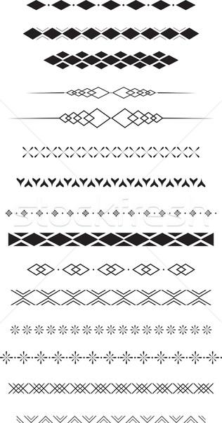 Geometrica testo set pennello frame elemento Foto d'archivio © Hipatia