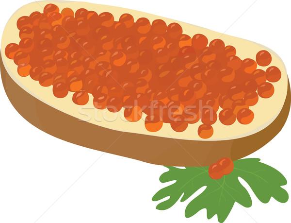 Sandwich isolato rosso bianco delicatezza festa Foto d'archivio © Hipatia