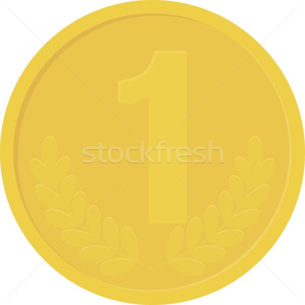 Oro giallo moneta isolato bianco zecchino Foto d'archivio © Hipatia
