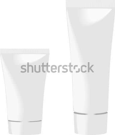 Bianco tubi due isolato donna faccia Foto d'archivio © Hipatia