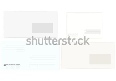 Quattro lettere diverso bianco carta comunicazione Foto d'archivio © Hipatia