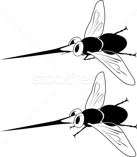 Cartoon zanzara stilizzato isolato volare salute Foto d'archivio © Hipatia
