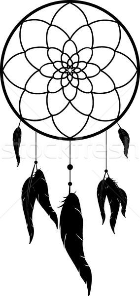 Nero in bianco e nero amore arte piuma Foto d'archivio © Hipatia