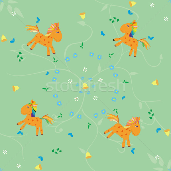 Cavallo pattern senza soluzione di continuità divertimento sereno cavalli Foto d'archivio © Hipatia