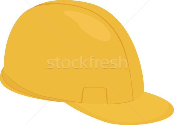 Builder cartoon giallo casco isolato bianco Foto d'archivio © Hipatia