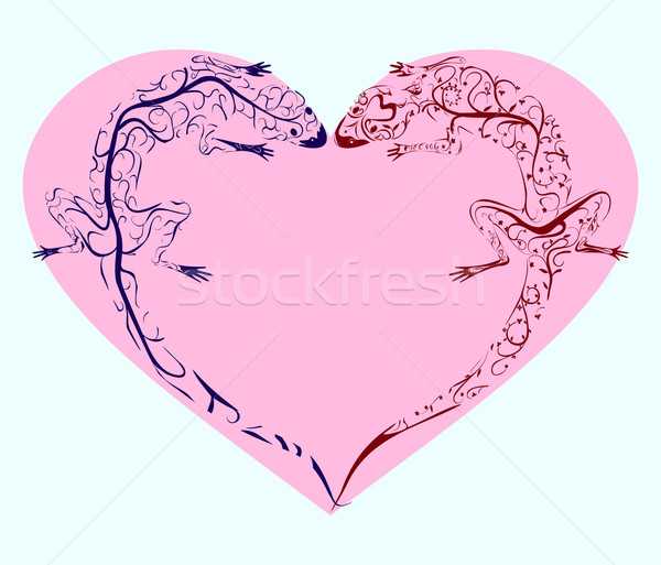 lizards twisted heart Stock photo © Hipatia