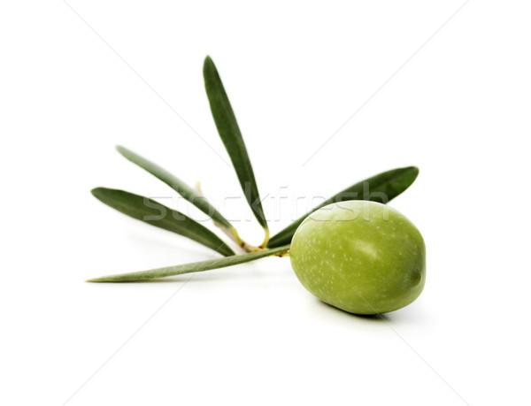 Oliva fresche verde isolato bianco frutta Foto d'archivio © hitdelight