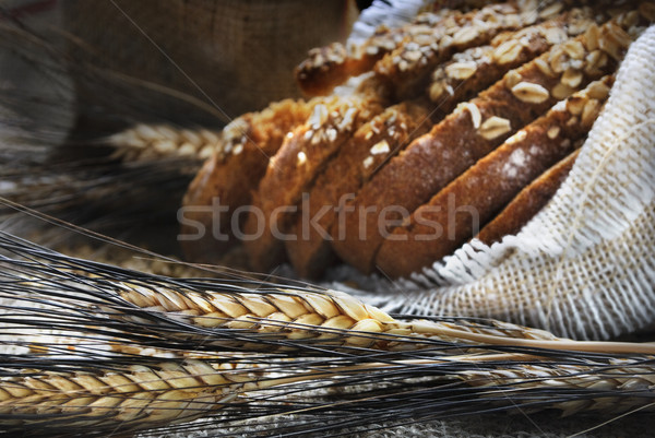 Brood tarwe oren vintage hout Stockfoto © hitdelight
