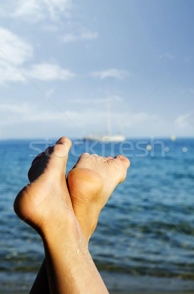 Feet on the beach Stock photo © hitdelight