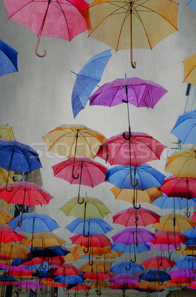 Parapluies ciel papier mur résumé Photo stock © hitdelight