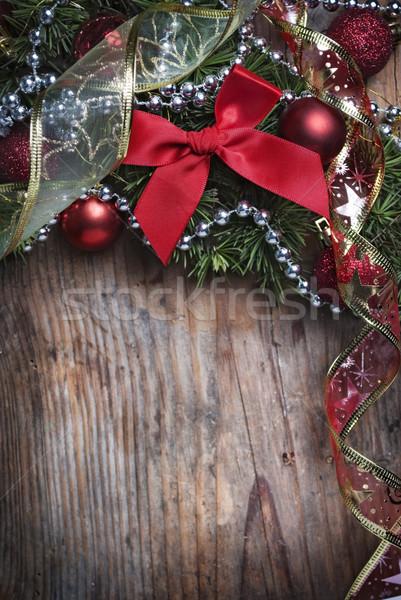 Natale legno decorazione muro design Foto d'archivio © hitdelight