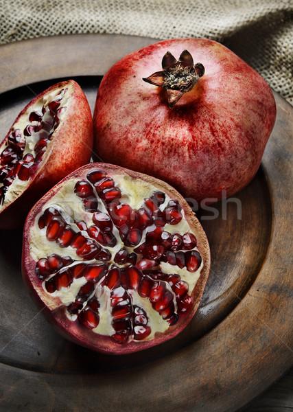 гранат деревенский пластина фрукты жизни Сток-фото © hitdelight