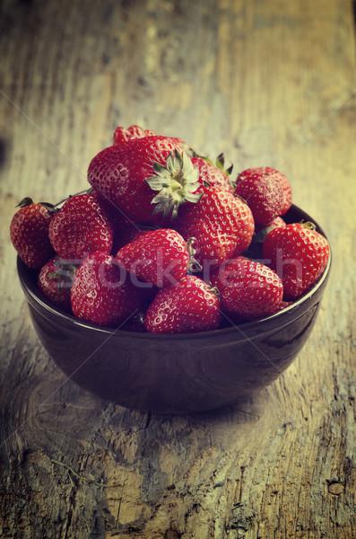Strawberries Stock photo © hitdelight