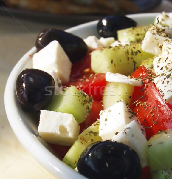 Greco insalatiera insalata formaggio pomodoro vegetali Foto d'archivio © hitdelight