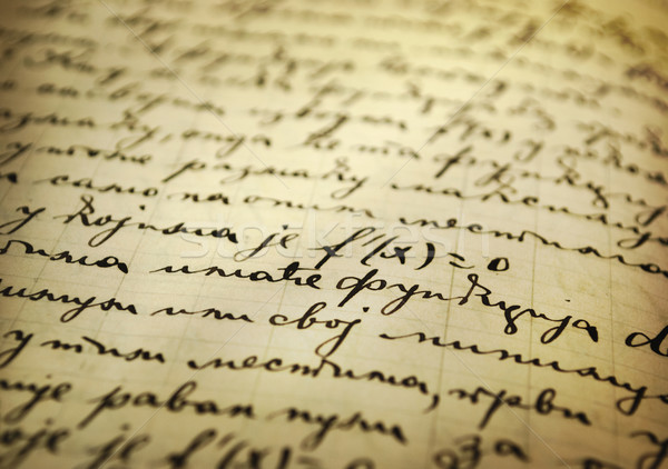 Old manuscript Stock photo © hitdelight