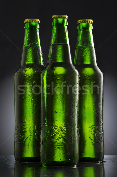 Birra bottiglie umido nero acqua alimentare Foto d'archivio © hitdelight