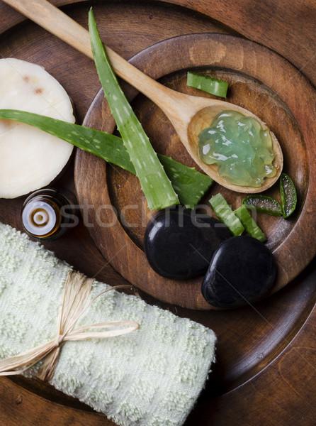 алоэ гель Spa древесины природы тело Сток-фото © hitdelight