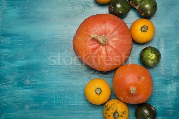 Zucche colorato blu legno alimentare design Foto d'archivio © hitdelight