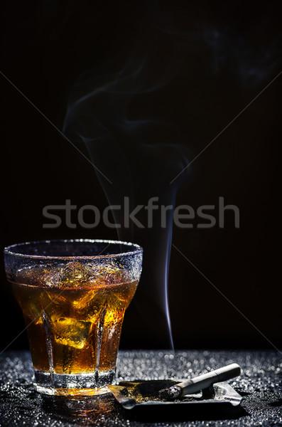 Foto stock: Vidro · bebida · fria · tabaco · frio · álcool · beber