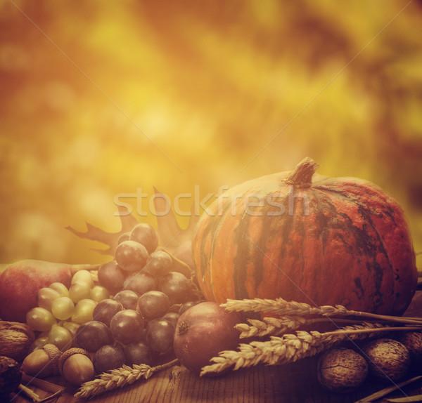 Autunno stagionale frutti alimentare frutta sfondo Foto d'archivio © hitdelight