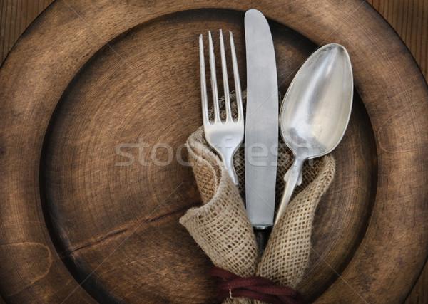Vintage silverware Stock photo © hitdelight
