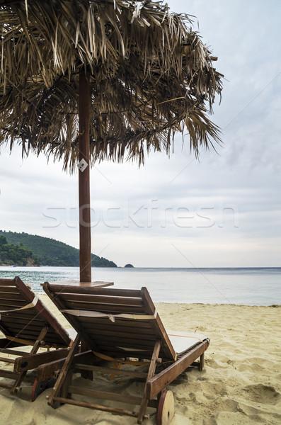 Plaj su deniz arka plan yaz Stok fotoğraf © hitdelight