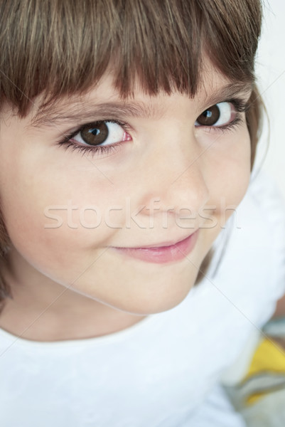 Closeup portrait of young girl Stock photo © hitdelight