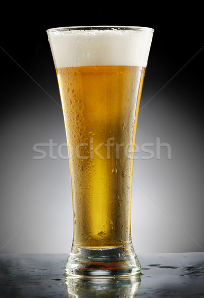 Glass of Beer Stock photo © hitdelight
