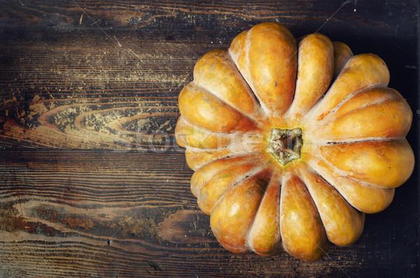 Zucca ringraziamento arancione rustico tavola copia spazio Foto d'archivio © hitdelight
