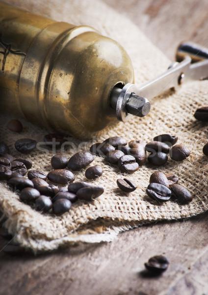 кофе мельница старые моде кофе мешок Сток-фото © hitdelight