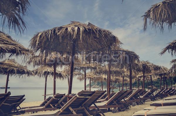 ビーチ 砂浜 水 海 背景 夏 ストックフォト © hitdelight