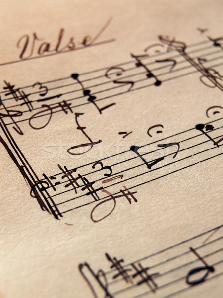Music Sheet Stock photo © hitdelight