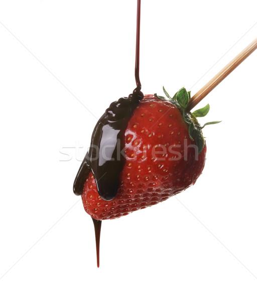 Strawberry in chocolate Stock photo © hitdelight