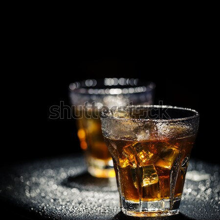 Jeges koktélok kettő üveg koktél nedves Stock fotó © hitdelight