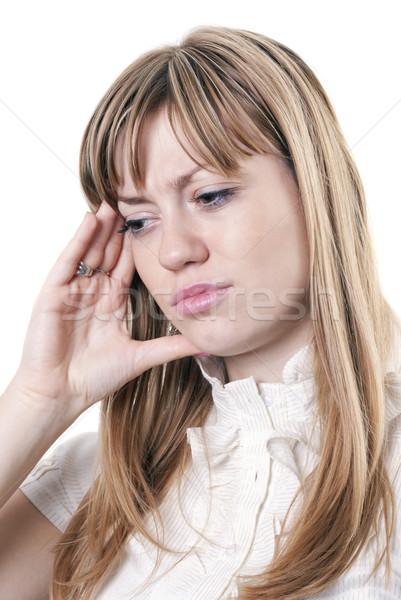 Woman under stress Stock photo © hitdelight