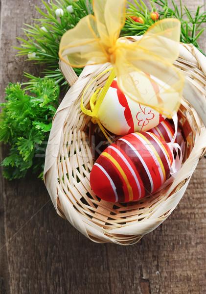 Easter eggs Stock photo © hitdelight