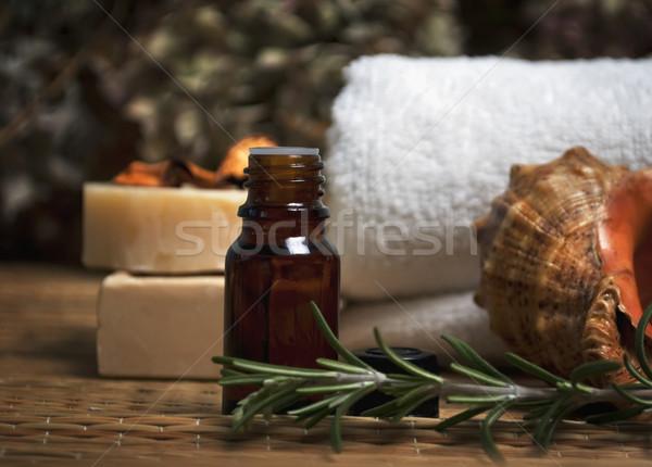 Trattamento termale spa corpo care olio naturale Foto d'archivio © hitdelight