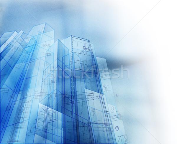 Résumé architectural espace de copie affaires bureau papier Photo stock © hitdelight