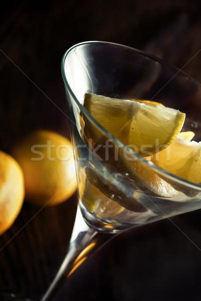 лимона Ломтики стакан мартини продовольствие вечеринка Сток-фото © hitdelight