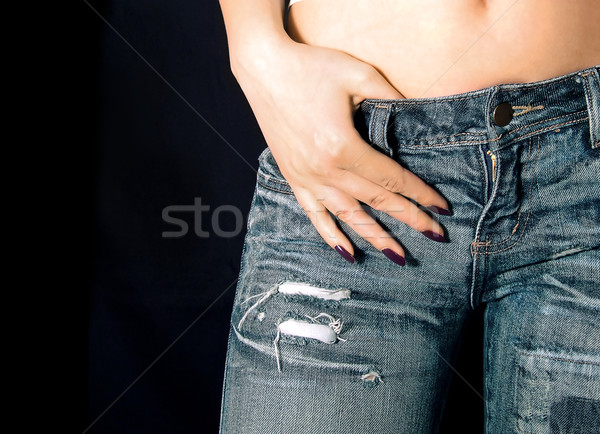 Girl in jeans Stock photo © hitdelight