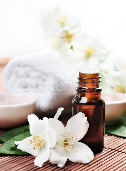 Bloem houten medische geneeskunde ontspannen Stockfoto © hitdelight