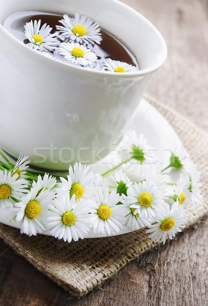 Tasse Tee natürlichen Holz Stock foto © hitdelight