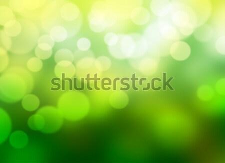 Groene bokeh abstract voorjaar ontwerp achtergrond Stockfoto © hitdelight