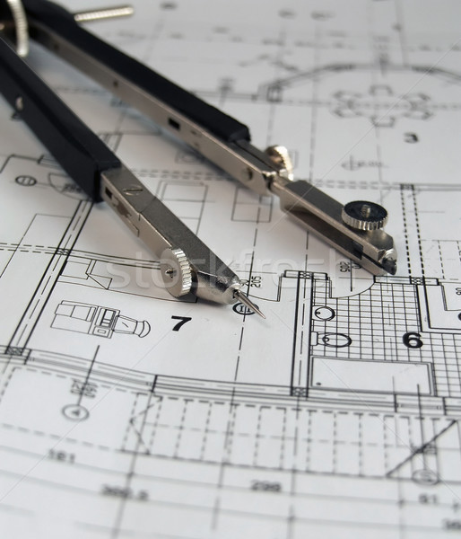 Divider on architectural plan Stock photo © hitdelight