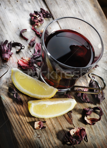 Hibiscus thee gedroogd citroen Stockfoto © hitdelight