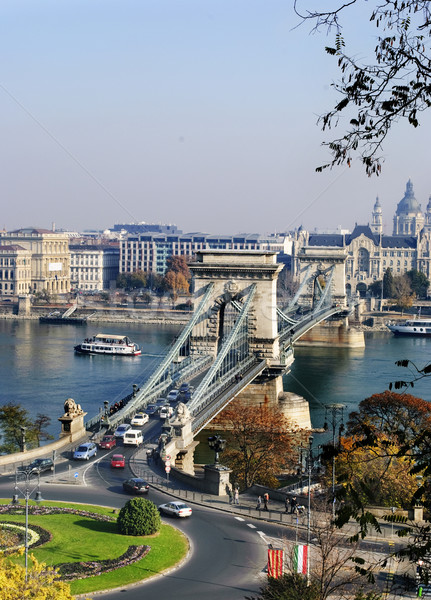 The Chain Bridge in Budapest Stock photo © hitdelight